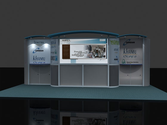 ContempoLite® Trade Show Exhibits from Trade Show Displays In Los Angeles utilize the newest type of Custom Modular Trade Show Exhibit Design