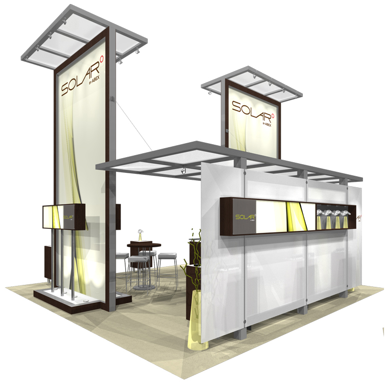 Trade Show Booth Walls : Custom displays with laminate exhibit booths and walls for trade